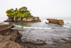 Tanah Lot Temple, Bali, Indonesia. Image of the famed Tanah Lot Temple by the sea at Bali, Indonesia Royalty Free Stock Photography
