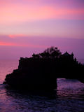 The Tanah Lot temple, in Bali island Royalty Free Stock Images