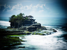 The Tanah Lot temple, in Bali island Royalty Free Stock Photos