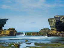 The Tanah Lot temple, in Bali island Royalty Free Stock Photo