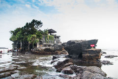 Tanah Lot Temple in Bali Island Indonesia Stock Image