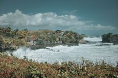 Tanah Lot Temple in Bali royalty free stock photo