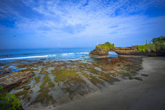 Tanah Lot Temple Cliffside - Bali Royalty Free Stock Photo