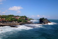 Tanah Lot Temple 2. Famous Tanah Lot Temple on an offshore rock in Bali, Indonesia Royalty Free Stock Images