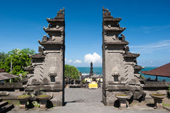 Tanah Lot temple gates, Bali island, Indonesia stock photos