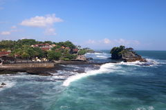 Tanah Lot Temple 1. Tanah Lot Temple on an offshore rock in Bali, Indonesia Royalty Free Stock Photo