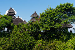 Tanah Lot temple roofs, Bali island, indonesia Royalty Free Stock Images