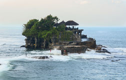 Tanah Lot temple on the sea in Bali, Indonesia Royalty Free Stock Photography