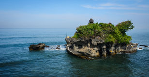 Tanah Lot temple on the sea in Bali, Indonesia Royalty Free Stock Photo
