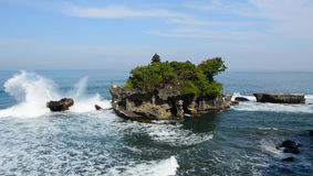 Tanah Lot temple on the sea in Bali, Indonesia Stock Photo