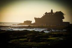 Tanah Lot Temple on Sea Stock Photos