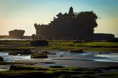 Tanah Lot Temple on Sea Stock Image
