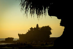 Tanah Lot Temple on Sea Royalty Free Stock Photography