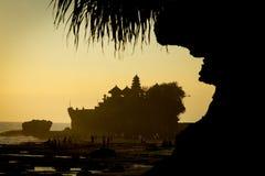 Tanah Lot Temple on Sea Royalty Free Stock Photo
