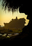 Tanah Lot Temple on Sea Stock Images