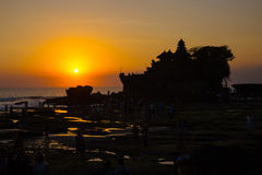 Tanah Lot Temple on Sea Royalty Free Stock Images