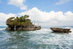 Tanah Lot Temple on Sea in Bali Island Indonesia Stock Photo