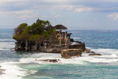 Tanah Lot Temple on Sea in Bali Island Indonesia Royalty Free Stock Photos