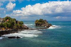 Tanah Lot Temple on Sea in Bali Island Indonesia Royalty Free Stock Images