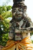 Tanah lot temple statue bali indonesia Stock Photo