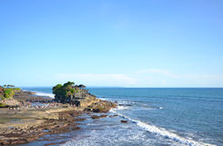 Tanah lot temple on sunny day Royalty Free Stock Images