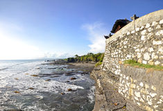 Tanah lot temple on sunny day Stock Photos