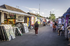 Tanah Lot Temple Traditional Art Market Royalty Free Stock Photography