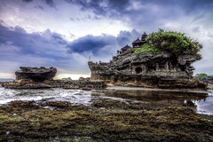 Tanah Lot water temple in Bali. Indonesia nature landscape. Famo Stock Image
