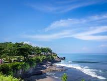 Tanah lottstrand, Bali, Indonesien Royaltyfria Bilder
