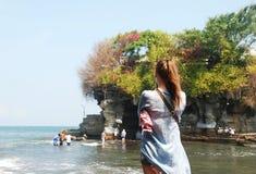 Tanah lotttempel av Bali royaltyfri bild
