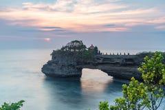 Tanah udziału świątynia i naturalna jama w Beraban wiosce, Tabanan, Bali obraz stock