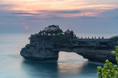 Tanah udziału świątynia i naturalna jama w Beraban wiosce, Tabanan, Bali fotografia stock