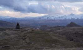 Mountain landscape. Armenia. Tanahat Monastery. located 7 km south-east of Vernashen village in the Vayots Dzor Province of Armenia Stock Photo