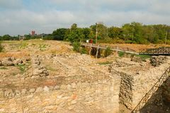 Tanais - excavation of the Ancient Greek city. Stock Photos