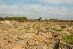 Tanais - excavation of the Ancient Greek city. Royalty Free Stock Photography