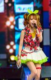 """Tanaka Reina (Vocals Leader) from LoVendor Group. BANGKOK - AUGUST 30 : Tanaka Reina (Vocals Leader) from LoVendor Group in Japan Festa in Bangkok 2014 """"Enter Royalty Free Stock Image"""
