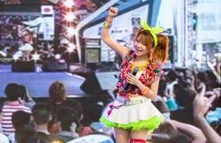 Tanaka Reina (Vocals ledare) från den LoVendor gruppen royaltyfri bild