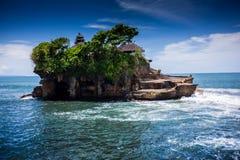 Tanalot tempel i östliga Bali Arkivbilder