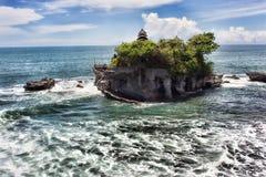 Tanalot tempel i östliga Bali Arkivfoto