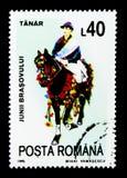 Tanar, cavaliers des sept secteurs du serie de Brasov, vers Photo stock