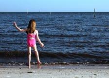 tancerką na plaży Zdjęcie Royalty Free