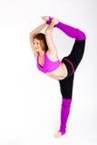Tancerz gimnastyczna dziewczyna z dobry rozciągać Fotografia Stock