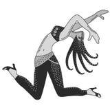 Tancerz kobieta royalty ilustracja