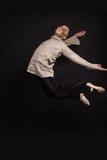 Tancerz na ciemnym tle Obraz Royalty Free