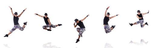 Tancerz odizolowywający na białym tle Obraz Stock