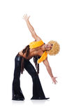 Tancerz w afro peruka tanu odizolowywającym Obraz Stock