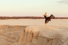 Tancerz w piasku obrazy royalty free