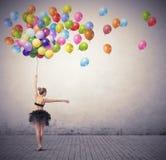 Tancerz z balonami Obrazy Royalty Free