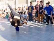 Tancerz z głową Zdjęcia Royalty Free