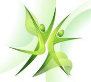 tancerz zieleń Zdjęcia Royalty Free
